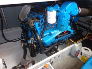 Stbd Engine rebuilt & with new manifold and High Risers