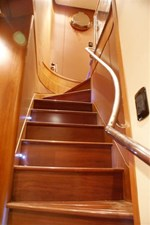 Stairs to bridge deck
