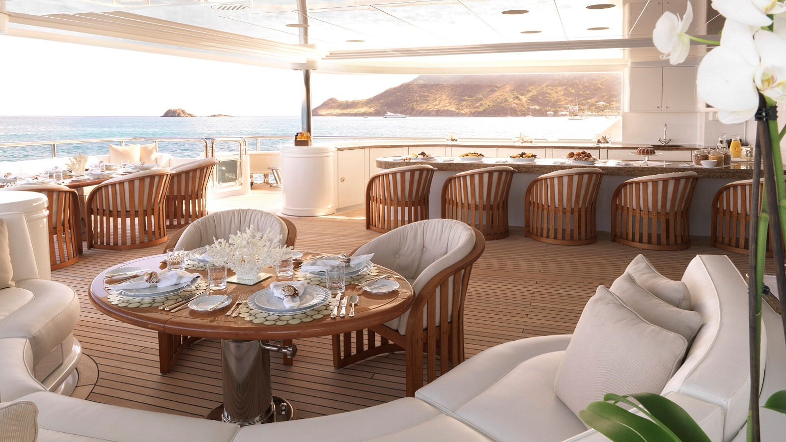 12 breakfast on the aft deck