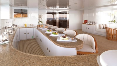 14 aft deck bar set for breakfast