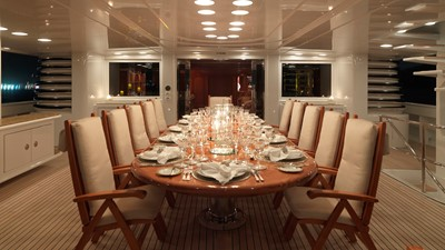 37 Upper deck dining  evening
