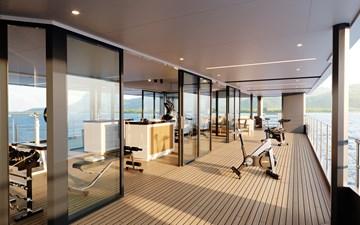SeaXplorer 60 25 Damen Yachting SeaXplorer 60 Main Deck Aft fitness zone