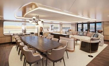 SeaXplorer 60 35 Damen Yachting SeaXplorer 60 tropics lounge dining by H2 Design
