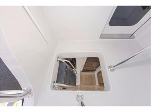 Ladder from Flybridge Down to Aft Deck