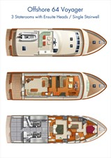 NEW BUILD 64 VOYAGER 5 NEW BUILD 64 VOYAGER 2020 OFFSHORE YACHTS Pilothouse Voyager Motor Yacht Yacht MLS #243523 5