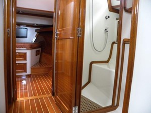 Passageway to owner's stateroom