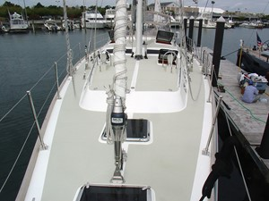 Foredeck, Looking Aft.