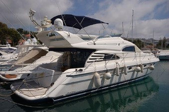 2004 Fairline Squadron 55  SYS YACHT SALES        Starboard Profile