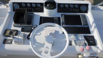 1989 63' Viking motor yacht Flybridge Helm