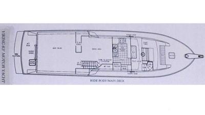 1989 63' Viking motor yacht Layout