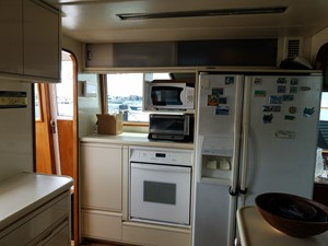 1989 63' Viking motor yacht Galley