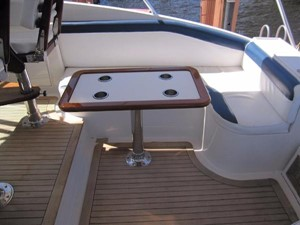 Jade Sky 12 Helm Deck Seating and Table
