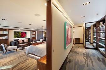 PLANET NINE 2 Looking Aft to Port into Owners Stateroom