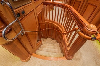 Staircase From Salon To Lower Deck