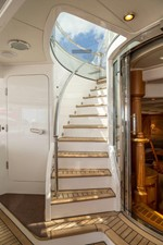 Staircase From Main Deck To Flybridge