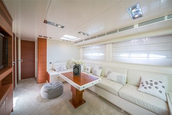 2011 Itama 75' main salon with new carpet for sale