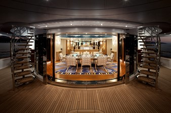 Dining Salon Looking Forward from Aft Deck
