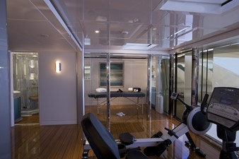 Private Gym and Massage Room on Sun Deck