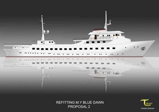 BLUE DAWN 3 BLUE DAWN 1959 SCHEEPSWERT  Motor Yacht Yacht MLS #240628 3
