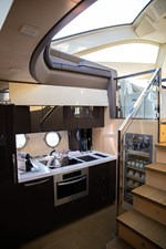 Galley on the lower deck