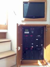 Salon LCD TV and Distribution Panel