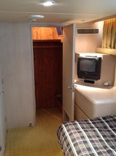 PORT GUEST STATEROOM - Looking aft to Cedar-Lined Closet