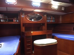 Master Cabin with 3/4 Queen to Stbd.
