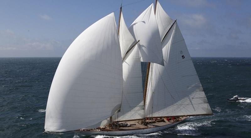 S/Y 162.5ft Van Der Graaf Classic Gaff Schooner ELEONORA under sail