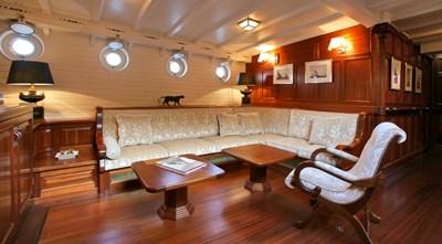 ELEONORA 9 S/Y 162.5ft Van Der Graaf Classic Gaff Schooner ELEONORA SalonELEONARA Classic Sailing Yacht 0011