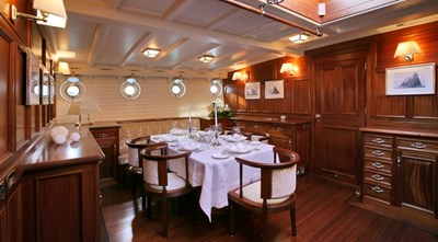 ELEONORA 10 S/Y 162.5ft Van Der Graaf Classic Gaff Schooner ELEONORA living roomELEONARA Classic Sailing Yacht 0012