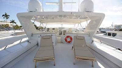 Flybridge aft with (2) 2500 lb davits