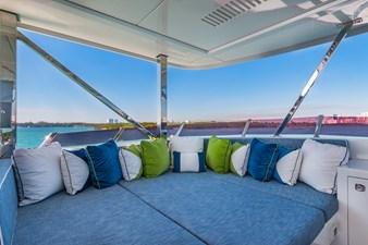 Sun Deck Lounging: MONI 107' 2013 Vicem Motor Yacht