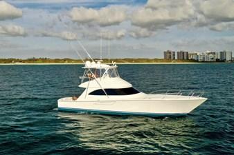CRAZY K 52 2016 Viking 52 Convertible Starboard Profile