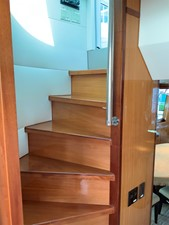 Stairs to Flybridge from Interior
