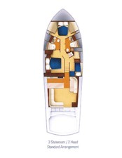 2002 60' Hatteras Convertible Layout