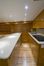 2002 60' Hatteras Convertible Galley
