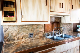 Galley counter and sinks