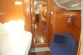 Forward Stateroom looking aft, Pullman berth, settee
