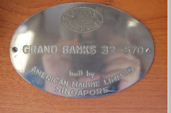 Grand Banks identity plate-32-530