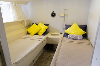 Enigma Blue for Sale - Twin guest cabin