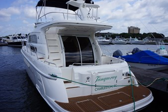 1998 Sealine F44 Flybridge Cruiser Motor Yacht port aft