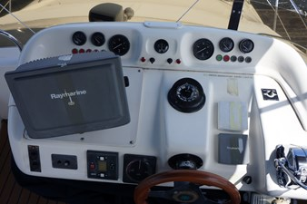 1998 Sealine F44 Flybridge Cruiser Motor Yacht upper helm
