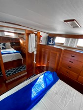 Owner's stateroom looking forward to starboard head