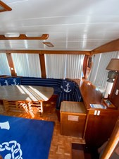 Starboard salon from aft entry door