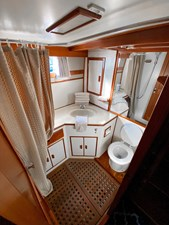 Aft stateroom port side head with shower