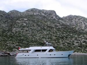 Caspa at anchor
