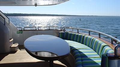 2005 Conrad Shipyard Motor Yacht Aft Deck