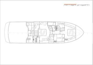 OKEAN 68-X 5 Lower Deck Layout