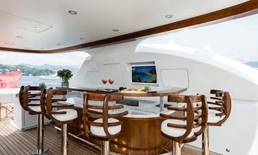 Sun Deck Cocktail Bar: ATOM 147' 2014/2019 Sunrise Tri-Deck Motor Yacht