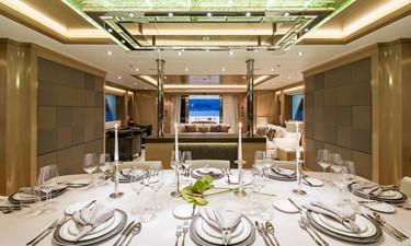 Dining: ATOM 147' 2014/2019 Sunrise Tri-Deck Motor Yacht